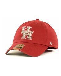 47 Brand - Red Houston Cougars Ncaa '47 Franchise Cap for Men - Lyst