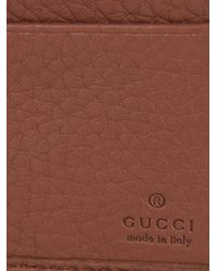 Gucci | Brown Stitched-Logo Leather Wallet for Men | Lyst