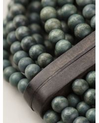 Monies | Green Beaded Necklace | Lyst