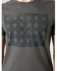 John Varvatos - Gray Star-Print T-Shirt for Men - Lyst
