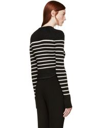 Isabel Marant - Black And Beige Striped Hartfield Sweater - Lyst