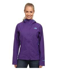 The North Face - Purple Dryzzle Jacket - Lyst