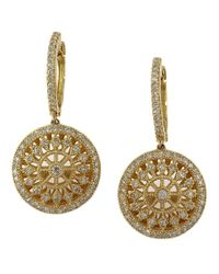 Effy | Metallic Doro Diamond And 14k Yellow Gold Drop Earrings, 0.72tcw | Lyst