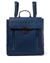 3.1 Phillip Lim - Blue Pashli Leather Backpack - Lyst