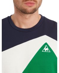 Le Coq Sportif - Blue Tricolores Ardiden Crew Neck Jumper for Men - Lyst