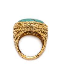 Aurelie Bidermann - Metallic Miki Ring With Stone - Lyst