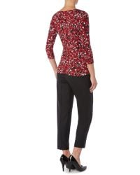 Max Mara - Black Papy Pleated Front Crop Trouser - Lyst
