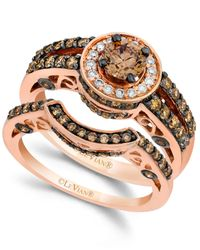 Le Vian | Pink Chocolate And White Diamond Engagement Band Set In 14k Rose Gold (1-1/2 Ct. T.w.) | Lyst