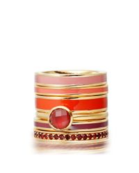 Astley Clarke - Orange Hot Coral Enamel Ring - Lyst