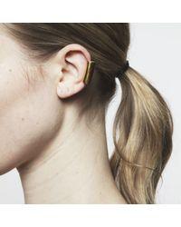Maya Magal - Metallic Long Ear Cuff Gold - Lyst