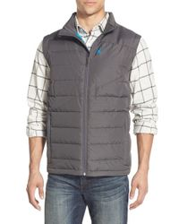 Spyder - Gray 'dolomite' Water Resistant Quilted Vest for Men - Lyst