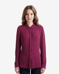 Ted Baker | Purple Ottoman Panel Shirt | Lyst