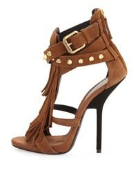 Giuseppe Zanotti | Brown Heel Sandal | Lyst