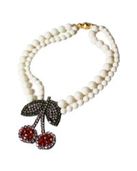 Shourouk | Red Cherry Pearl Necklace | Lyst