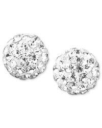 Macy's | Metallic Teardrop Chandelier Earrings In 10k White Gold | Lyst