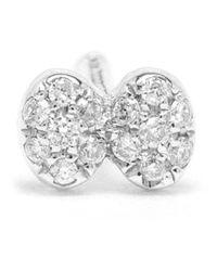 Yvonne Léon | Metallic Diamond Dragonfly Stud Earring | Lyst