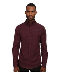 Vivienne Westwood - Purple Stretch Poplin Krall Shirt for Men - Lyst
