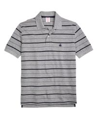 Brooks Brothers - Gray Original Fit Undercollar Detail Stripe Polo Shirt for Men - Lyst