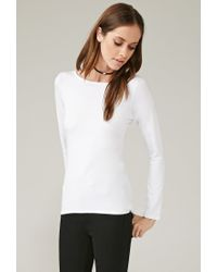 Forever 21 - White Marina T. High-low Top - Lyst