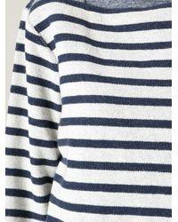 T By Alexander Wang - Gray Breton Stripe Top - Lyst
