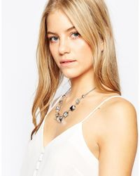 Ted Baker - Metallic Crystal Cube Necklace - Lyst