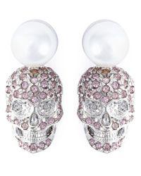 Philipp Plein - Pink 'love Is The Key' Earrings - Lyst
