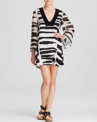 Alice + Olivia - Black Dress - Zia Kaftan - Lyst