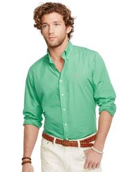 Polo Ralph Lauren | Green Button Down Poplin Shirt for Men | Lyst