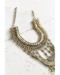 Urban Outfitters | Metallic Golden Chime Statement Necklace | Lyst