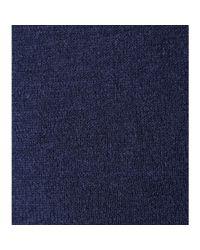 Dear Cashmere - Blue Cotton And Cashmere-Blend Turtleneck Sweater - Lyst