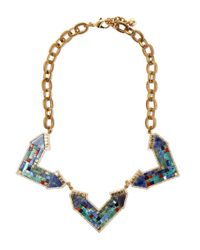 Lulu Frost | Metallic Gold-tone Petra Statement Necklace | Lyst