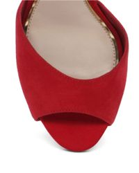 Jessica Simpson | Red Bonney Peep Toe Suede Sandals | Lyst