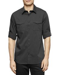 Calvin Klein | Black Roll-tab Sportshirt for Men | Lyst