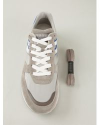 Hogan Rebel - Gray Panelled Lace-Up Leather Sneakers for Men - Lyst