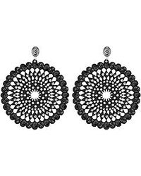 Swarovski - Black Belle Romantic Pierced Earrings - Lyst