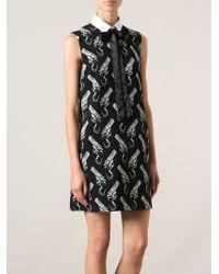 Saint Laurent - Black Short Gun Pop Dress - Lyst