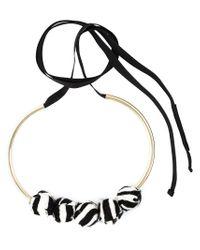 Marni | Black Zebra Pattern Necklace | Lyst