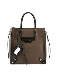Balenciaga - Brown Papier A5 Zip Around Tote Bag - Lyst
