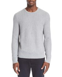 Rag & Bone | Gray 'avery' Cotton Crewneck Sweater for Men | Lyst