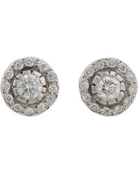 Ileana Makri | White Women's Circular Stud Earrings | Lyst