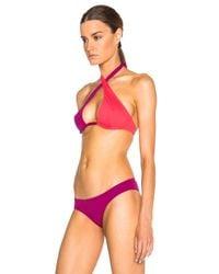 Ephemera - Red Bicolor Wrap Bikini Top - Lyst