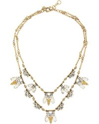J.Crew | Metallic Tiered Regalia Goldplated Cubic Zirconia Necklace | Lyst