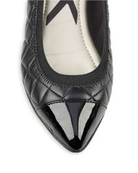 Anne Klein | Black Offered Quilted Flats | Lyst