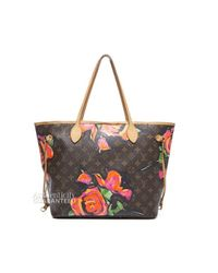 Louis Vuitton - Brown Preowned Stephen Sprouse Monogram Canvas Roses Neverfull Mm Tote Bag - Lyst