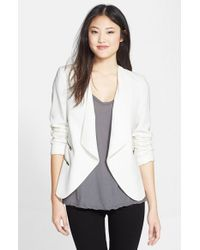 Halogen | White Zip Pocket Jacket | Lyst