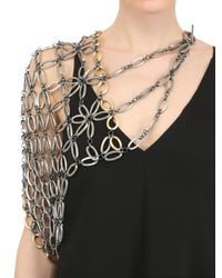 Lucia Odescalchi | Metallic Sleeve Necklace | Lyst
