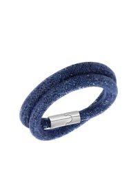 Swarovski | Blue Stardust Crystal Fishnet Tube Bracelet | Lyst