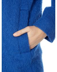 Sportmax Code | Blue Spuma Oversized Hooded Coat | Lyst