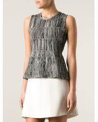 Calvin Klein - Gray Woven Top - Lyst