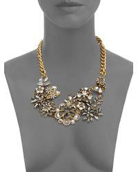 Saks Fifth Avenue | Metallic Bouquet Cluster Statement Necklace | Lyst